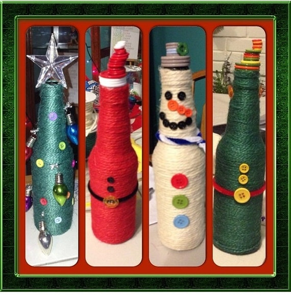 Items similar to beer bottle holiday decorations on etsy for Beer bottle decoration ideas