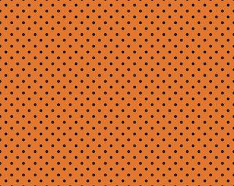 Riley Blake Orange w/Black Dots 572