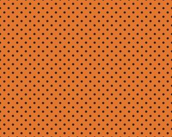 Riley Blake Orange w/Black Fabric Dots 572