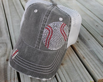 Baseball Bling Mesh Cap - Personalized
