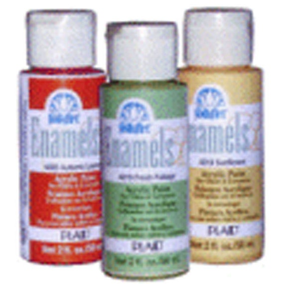 items similar to 2oz plaid folk art enamel acrylic paint
