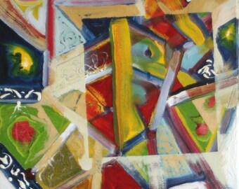 Spring Garden no.2  16x20 Abstract