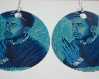 Blu handmade earrings