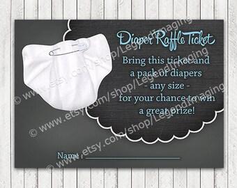 Boys Chalkboard Diaper Raffle Tickets