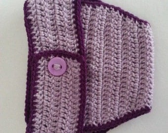 Crochet Diaper Cover in Lavender and Orchid