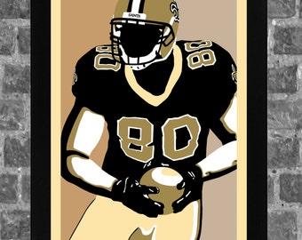 New Orleans Saints Jimmy Graham Portrait Sports Print Art 11x17