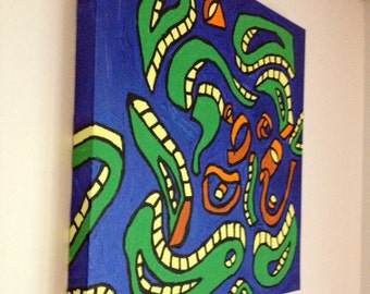 untitled acrylic painting on canvas