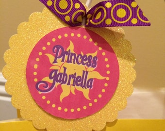 Princess/Tangled/Knight/Prince favor tag PDF file