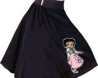 Adult Poodle Skirt with Betty Boop Chenille Patch Applied 5 styles