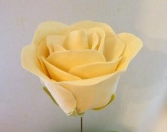 3 count white gumpaste roses, cake decorations, sugar flowers, white sugar flowers, diy wedding cake