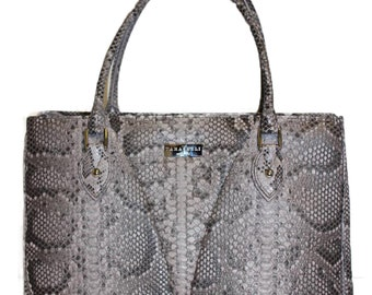 ELSON Executive Tote Bag  |   Ultra Luxe Sabbia Painted Python