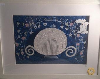 Fairy Tale Carriage - DIY Paper cut template
