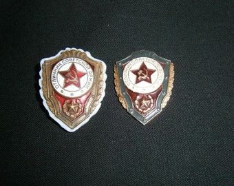 Badges of the USSR Excellent student of the Soviet Army 2 samples