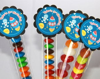 Space Rocket Lolly Tube Candy Favour