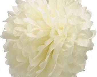 """14 inch light yellow / pale yellow  tissue pom pom - 14"""" pompom"""