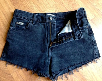 Lee HighWaisted Charcoal Jean Shorts SZ 4/5