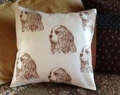 Cavalier King Charles Spaniel throw pillow cover, cavalier king charles, pillows, King charles spaniel