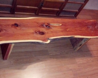 Ruff Cut Cedar Bench