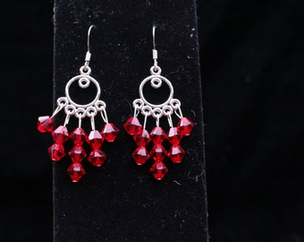 Snow White's Red Apple Chandelier Earrings