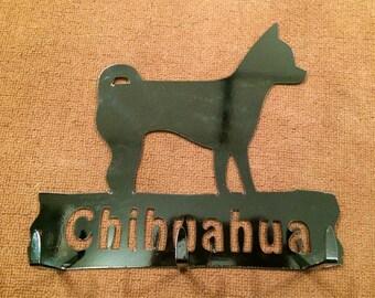 Chihuahua leash rack or key holder