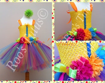 Carnival tutu dress costume. Brightly coloured, fun and bouncy. Party, Dress up