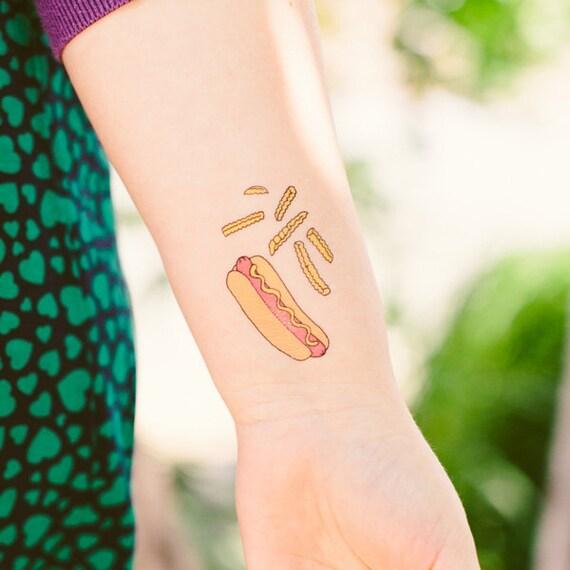 Hot Dog Tattly Temporary Tattoo