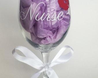 Nurse Wine Glass, Nursing Wine Glass, Medical Wine Glass
