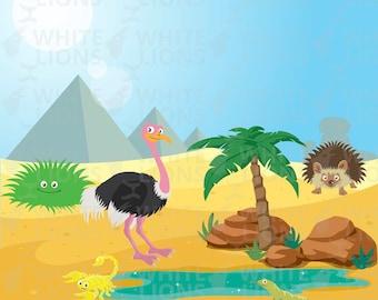 Wilderness Animal Desert BONUS background