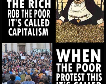 anti middle class sytem rich poor divide poverty against rich upper wealthy working people march banks bankers corrupt TSHIRT mens T SHIRT