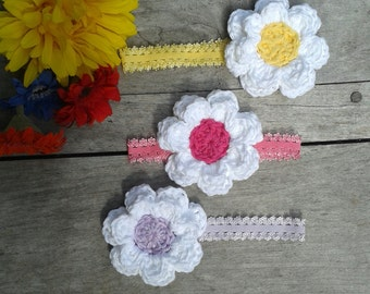 Baby/child big crochet flower headband