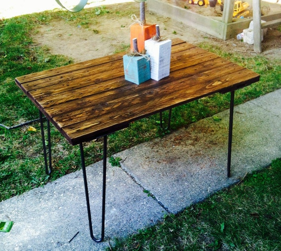 Items Similar To Hairpin Leg Reclaimed Pallet Table