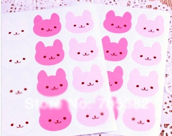 Cute Bunny Envelope Sticker Seals