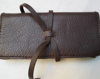 Leather tabacco pouch, tabacco bag, smoking equipment, 100% handmade