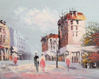 Cityscape landscape oil painting post impressionism