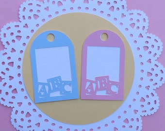 Baby Shower Favor Tag, Favor Tag, Gift Tag, ABC Tag, Baby Favor Tags, Double Layer Tags, Birthday Favor Tag, Thank you Tag
