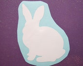 Bunny rabbit Easter vinyl sticker decal - vinyl sticker for car- sticker for car- laptop decal