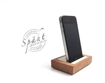 holz iphone halter etsy. Black Bedroom Furniture Sets. Home Design Ideas