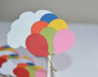 """Disney Pixar's """"UP"""" Inspired Cupcake Toppers, UP party tags,"""