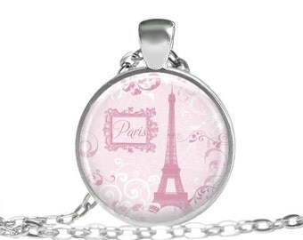 FREE SHIPPING Macaroon necklace, Pink Macaroon Paris Necklace, Pink Paris Jewelry, Elegant Paris Pendant, Paris France necklace, Elegant mac