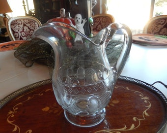 PRESSED GLASS PITCHER