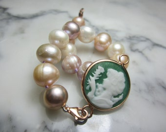 Bead Bracelet gem cameo agate TOM K switch it Tahiti chain