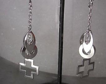 Earrings Stud Earrings Silver Chandelier Mix & Match Cross