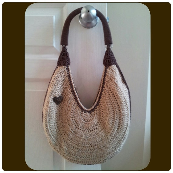 Custom Handmade Lined Round Crochet Hobo Purse, Made-to-Order in Any ...