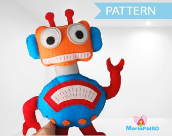 Robot Sewing Pattern, Robot Toy Pattern,  PDF Sewing pattern A1084