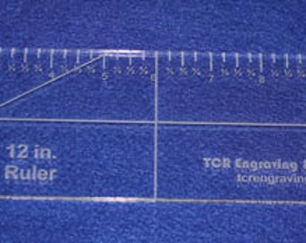 """3"""" x 12"""" Acrylic Ruler-  ~1/4""""  Clear Acrylic   - Quilting Template Tool"""