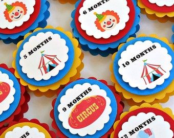 Circus Carnival Big Top Birthday - First Year Photo Clips - First Birthday - Ships in 1-3 Days