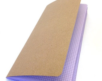 TINY GRID Traveler's Notebook Insert - Choice of 22 Colors and 9 Sizes