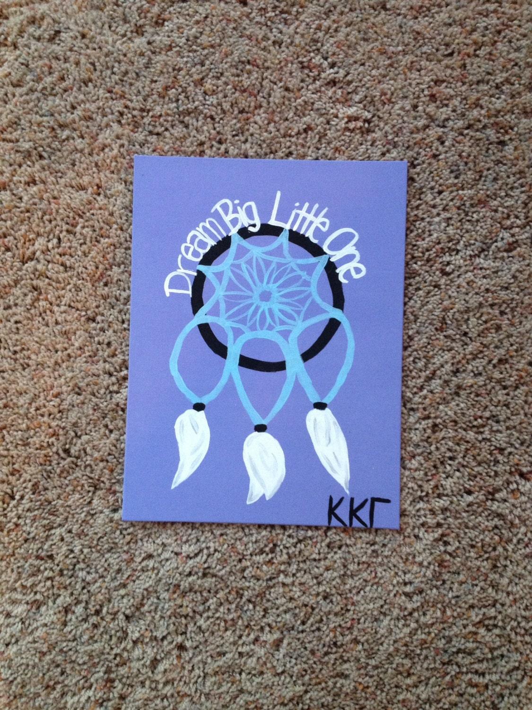 Big little sorority craft kappa kappa gamma by for Sorority crafts for little
