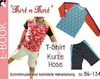 """pdf - """"Shirt n Short"""" TRIKOT sewing pattern Gr. 86-134 (2-8 years)"""
