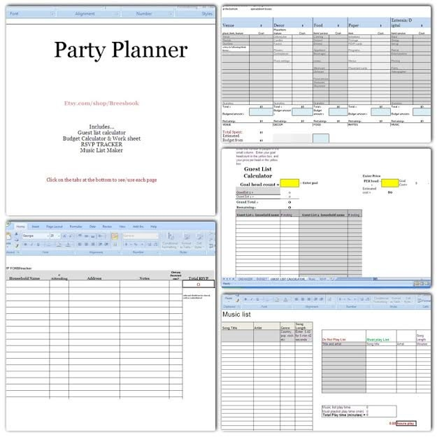music festival planning template - party planner budget headcount play list music rsvp